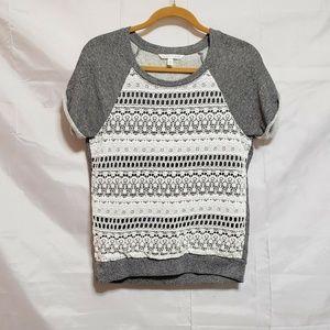 Victoria's Secret Sweatshirt Size Small Gray Cream